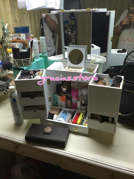 Countertop Makeup Organizer Jewelry Storage Luxury Cabinet